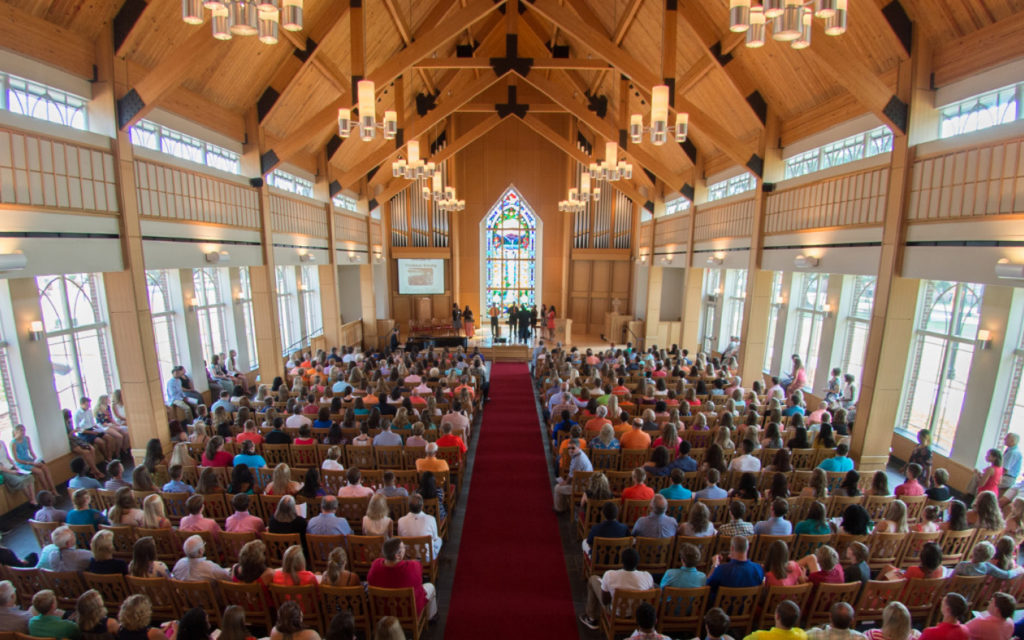 image of service in butler chapel
