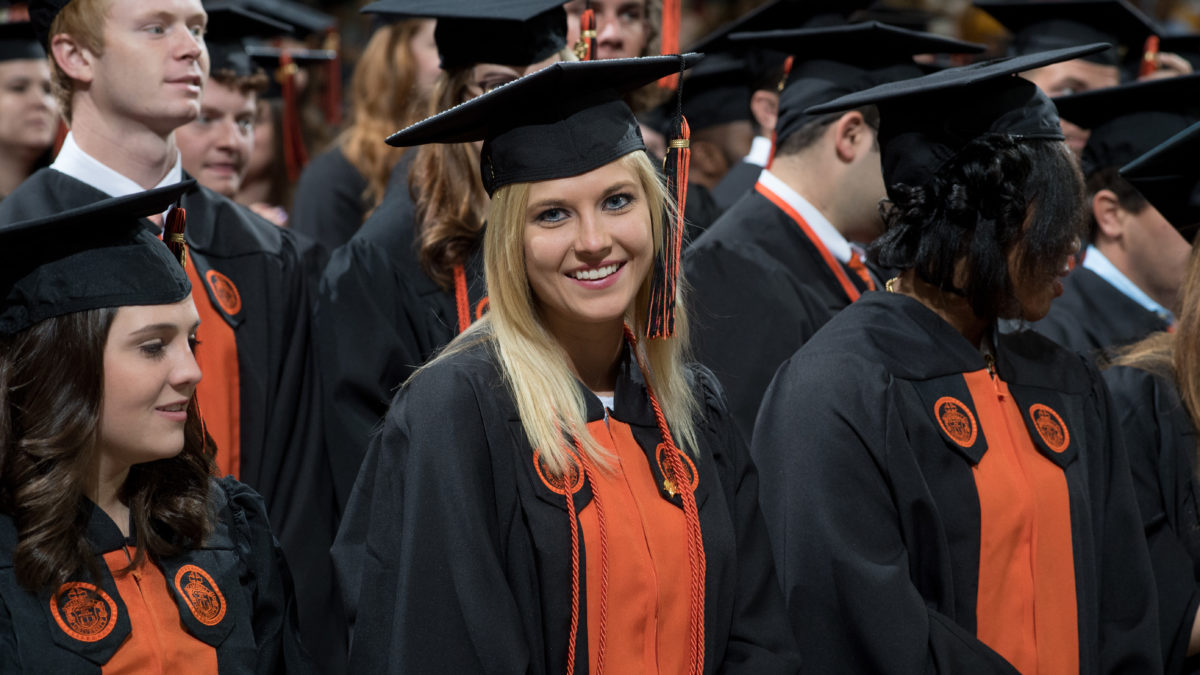 image of student at graduation