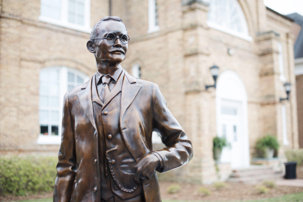 image of j.a. campbell statue