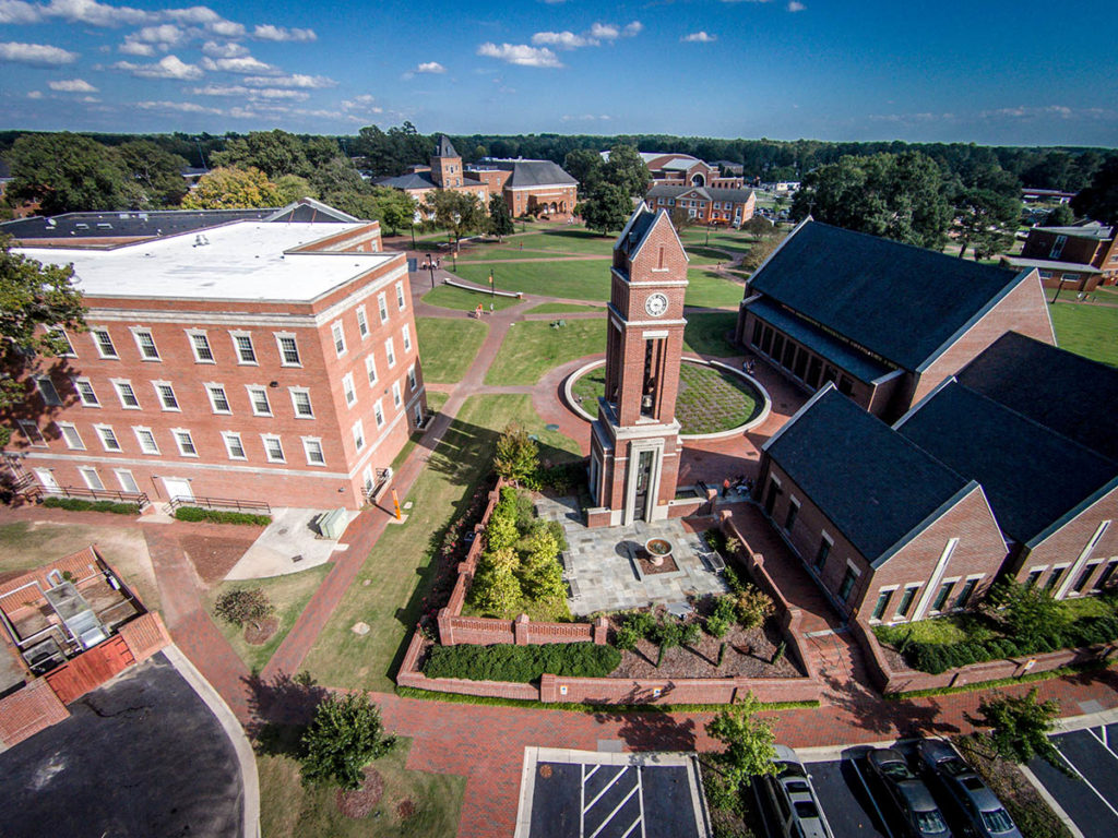 Arial view of bell tower