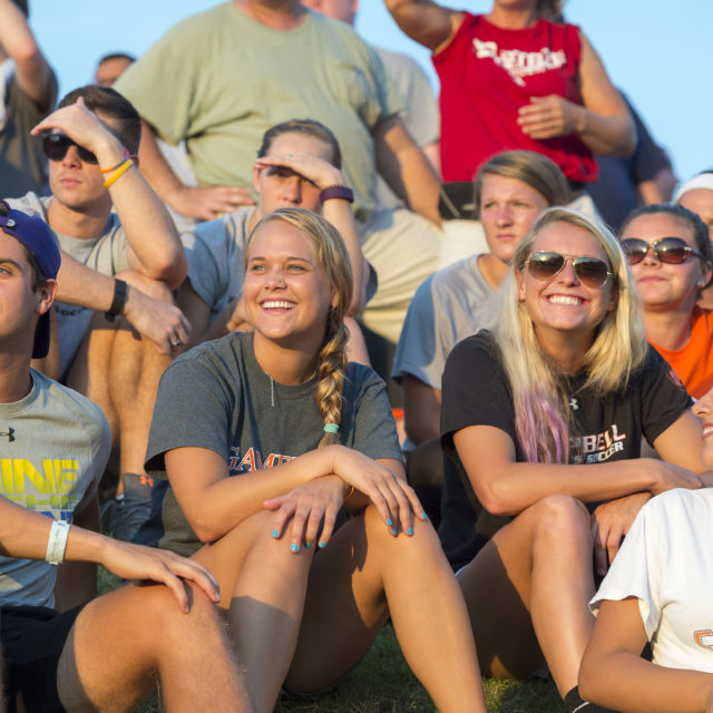 image of students at football game