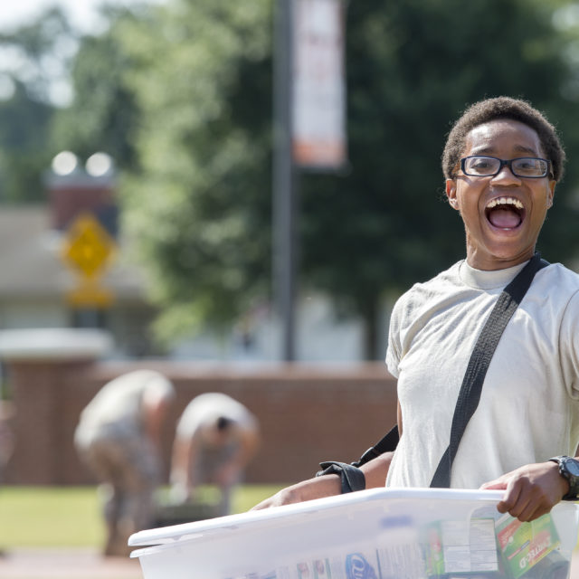 image of student moving