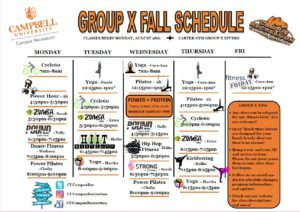 Image of Group X schedule, click to enlarge