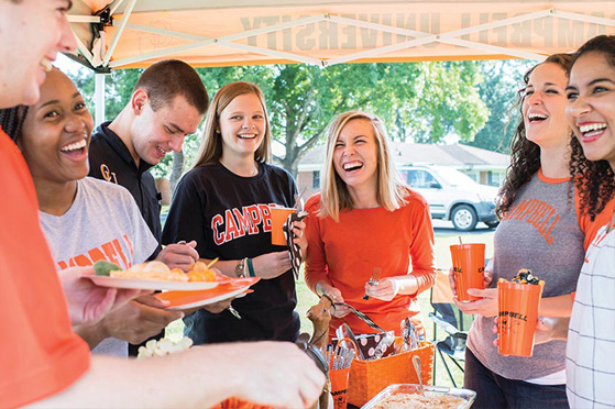 students enjoy homecoming tailgate