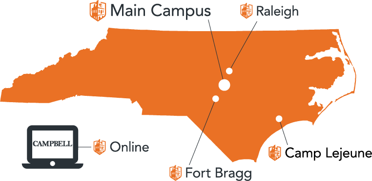 map of campbell university locations