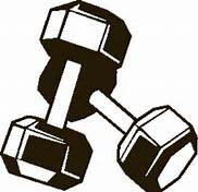image of dumbbells