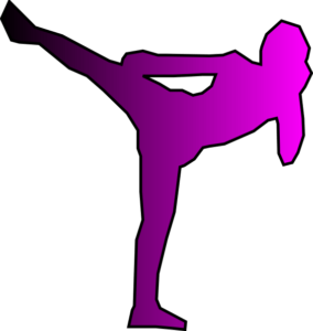 Kickboxing clip art image