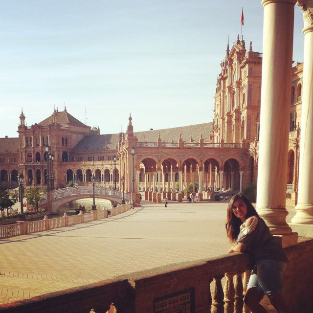 student studying abroad in Spain