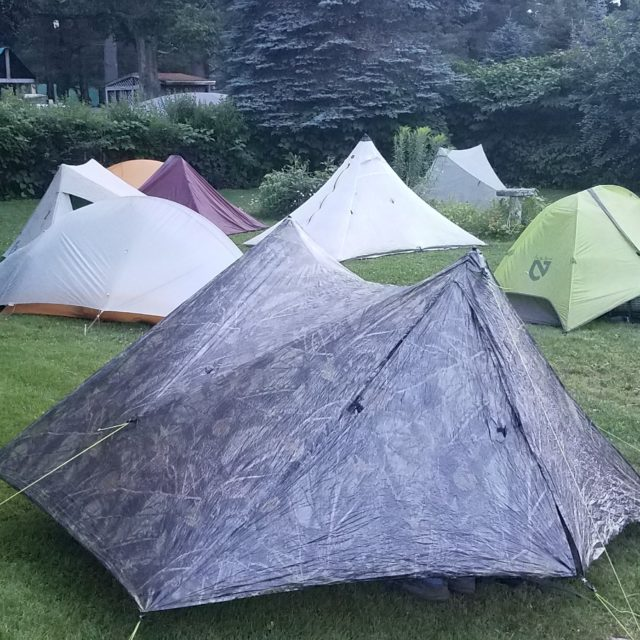 image of a variety of tents setup in small space