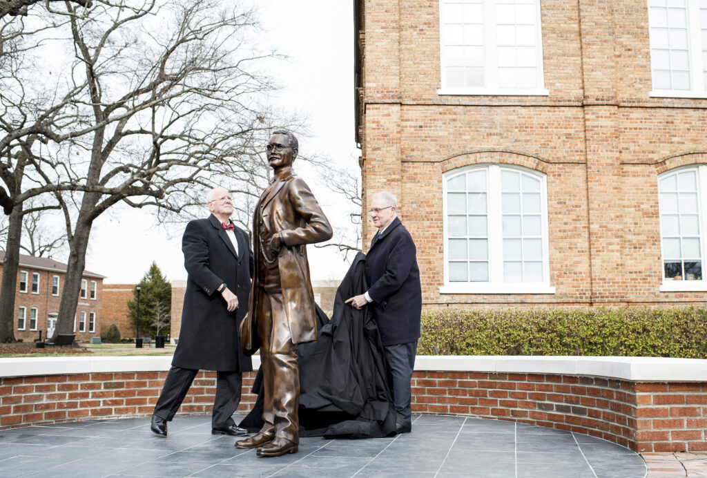 unveiling the statue of J.A. Campbell