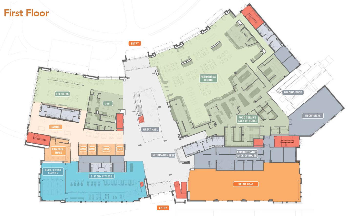 image of Student Union 1st Floor Plan