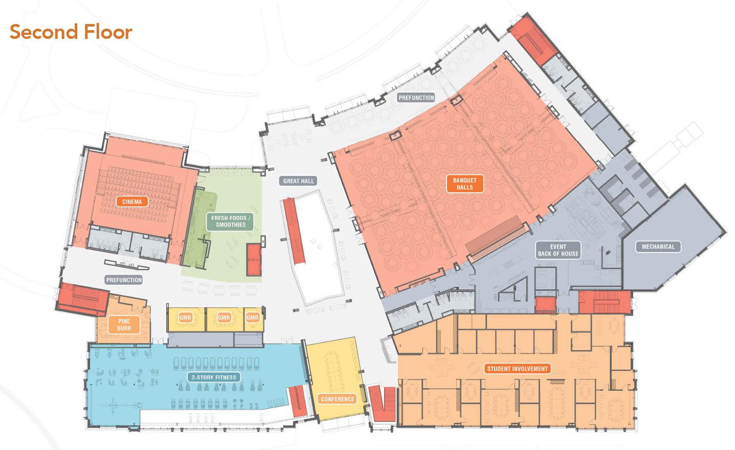 image of student union floor plan 2