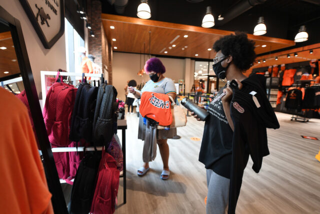 image of students in spirit shop