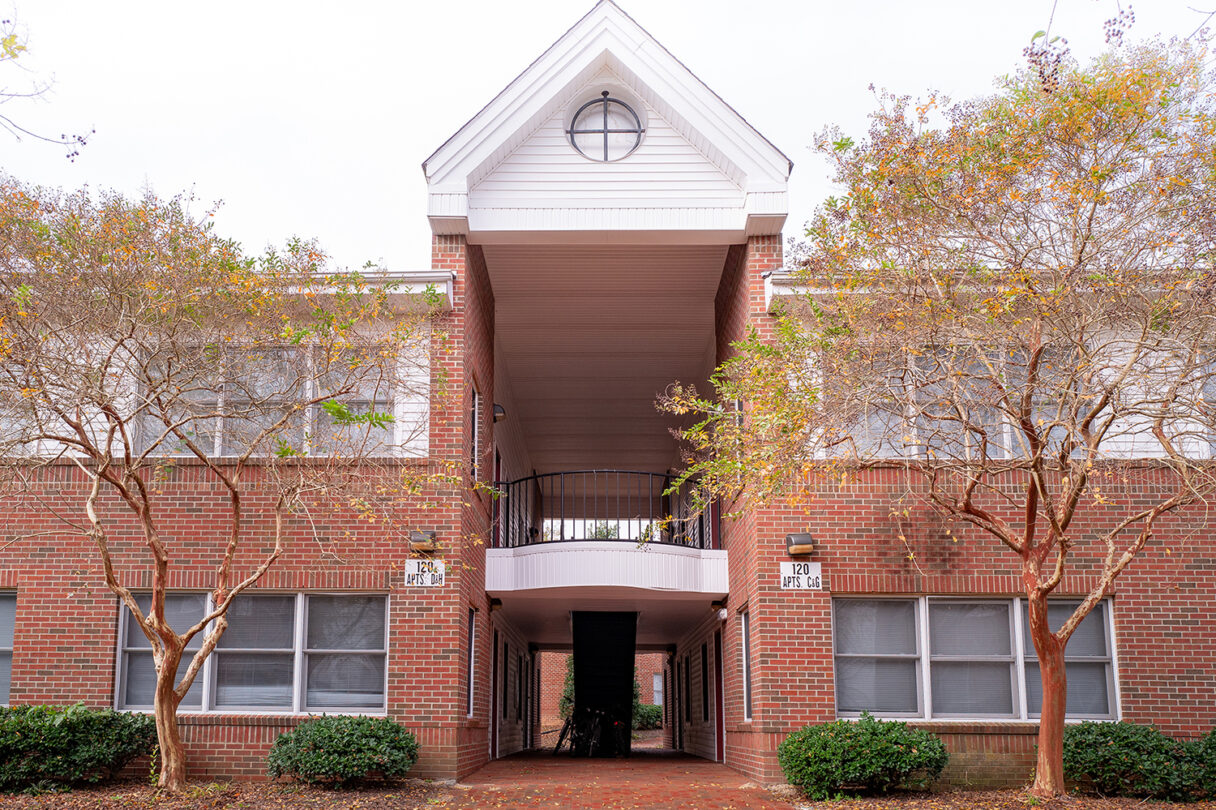 Exterior of Faculty Memorial Apartments