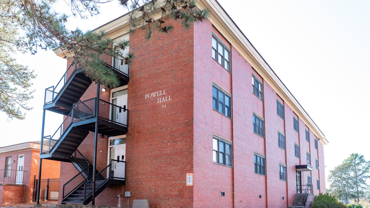 Exterior of Powell Hall
