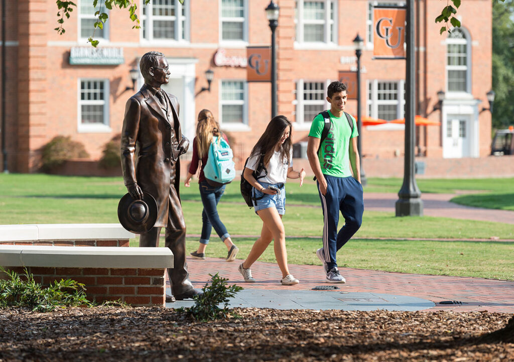 image of students walking on Campbell's campus