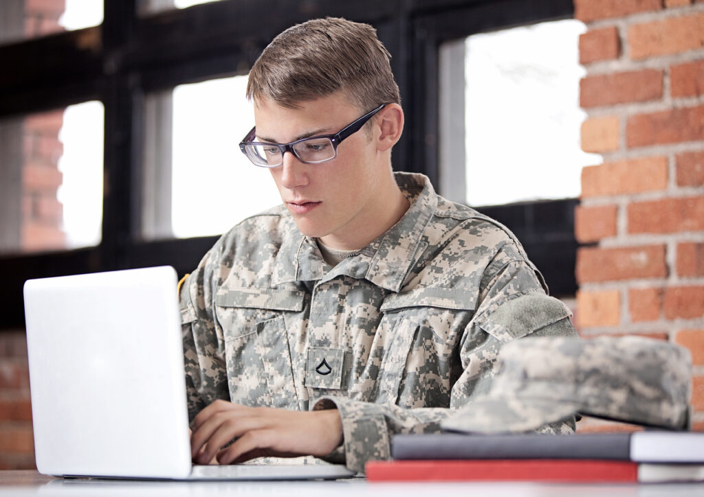 image of military IT worker