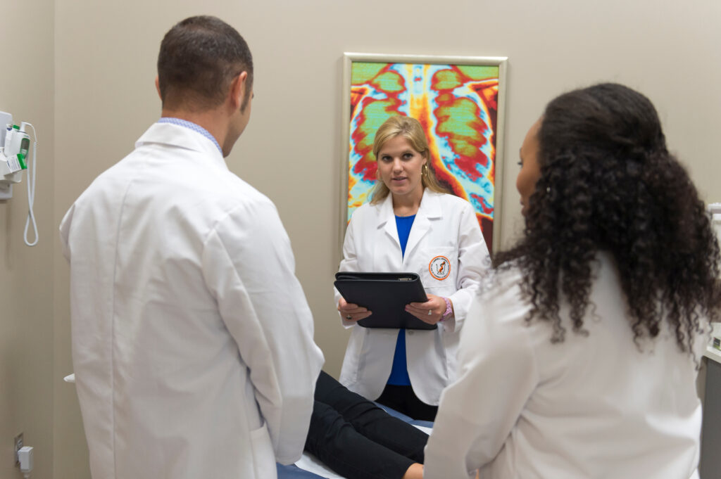 Physician Assistant Program students in white coats