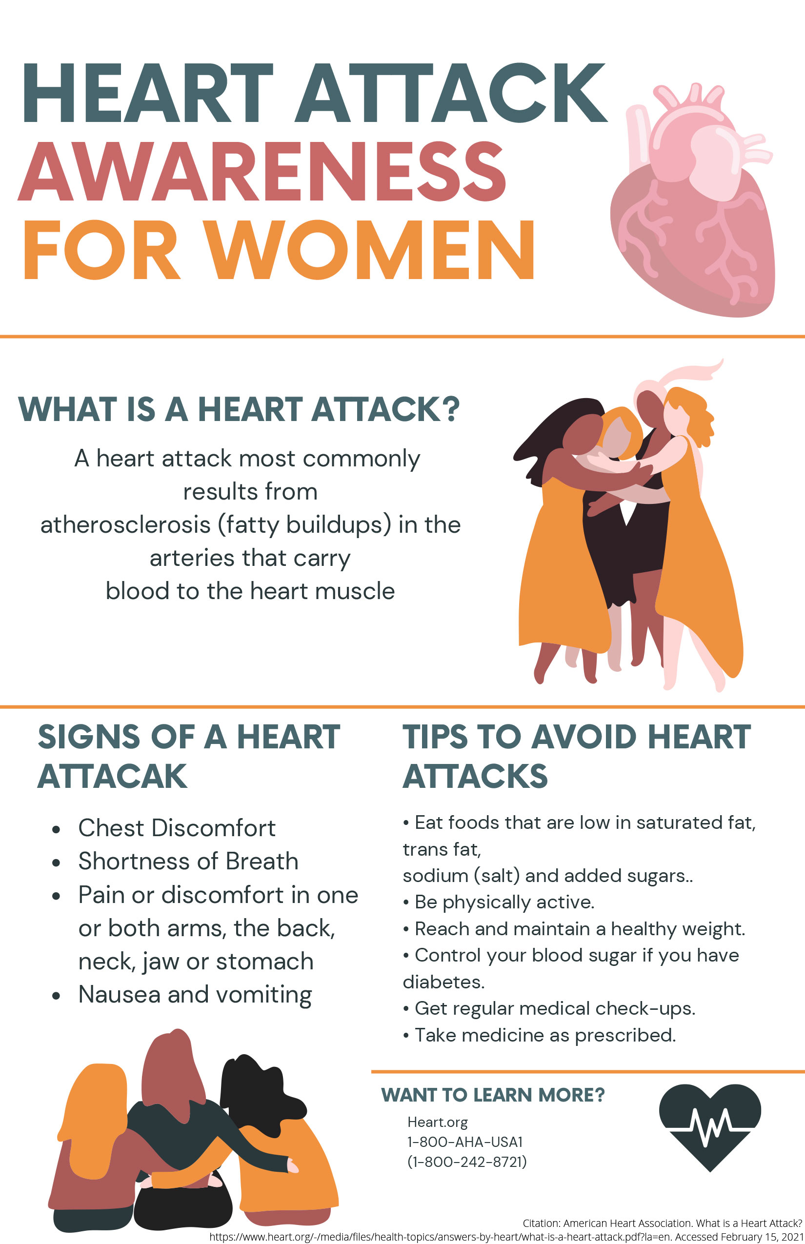 image of Hearth Attack Awareness for Women flyer