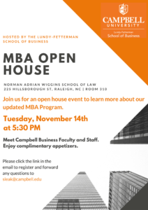 MBA Open House November 2017