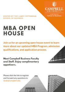 MBA Open House General Flyer