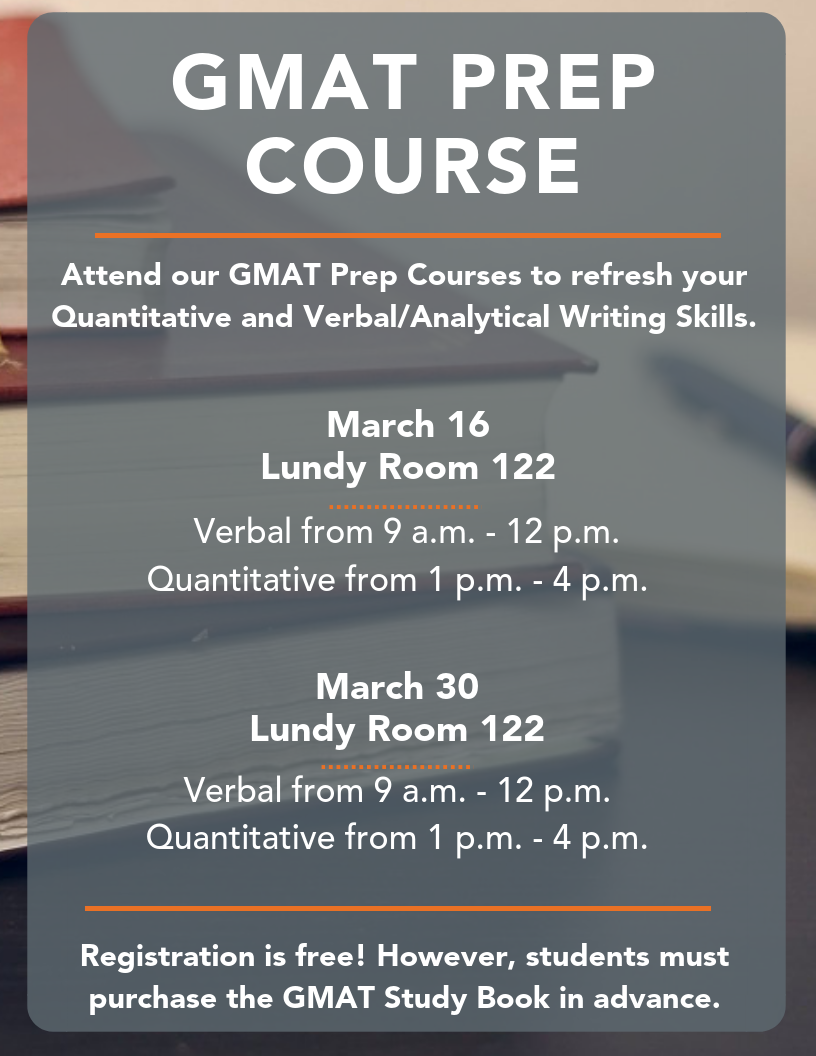 GMAT Prep Courses | School of Business | Campbell University