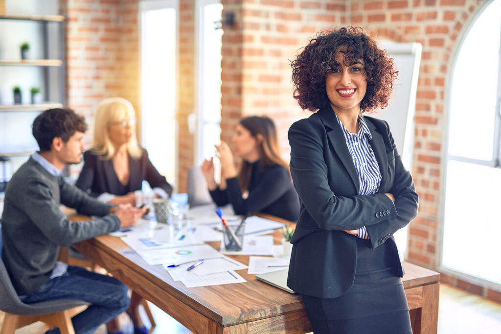 image of woman in a business meeting