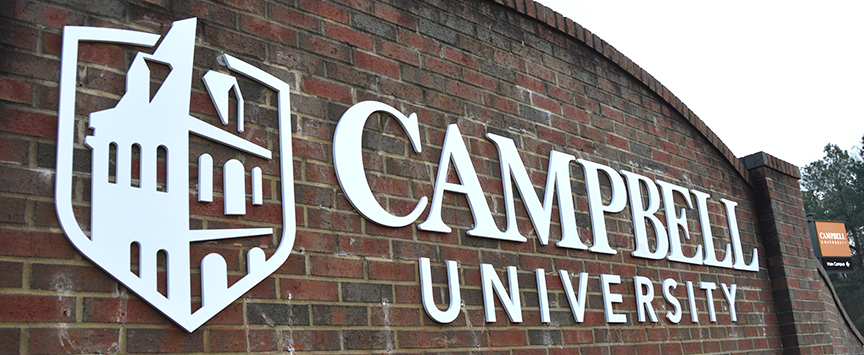 campbell university sign