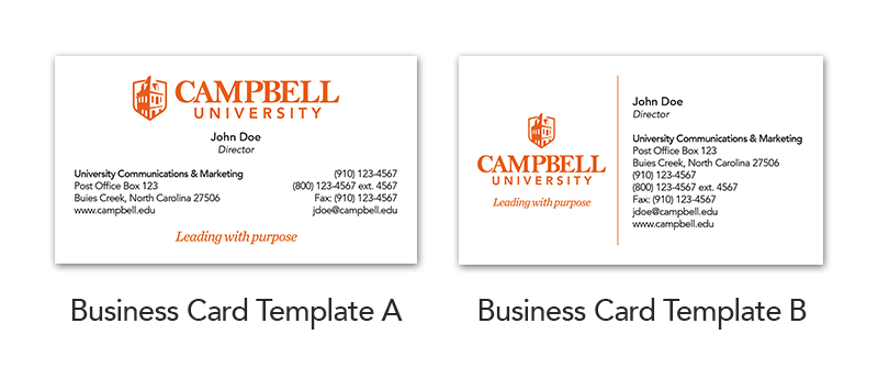 Business cards brand campbell university image of business cards accmission Gallery