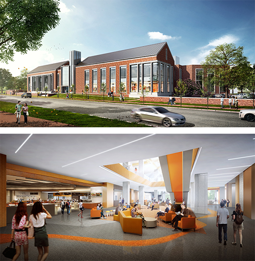 renderings of student union