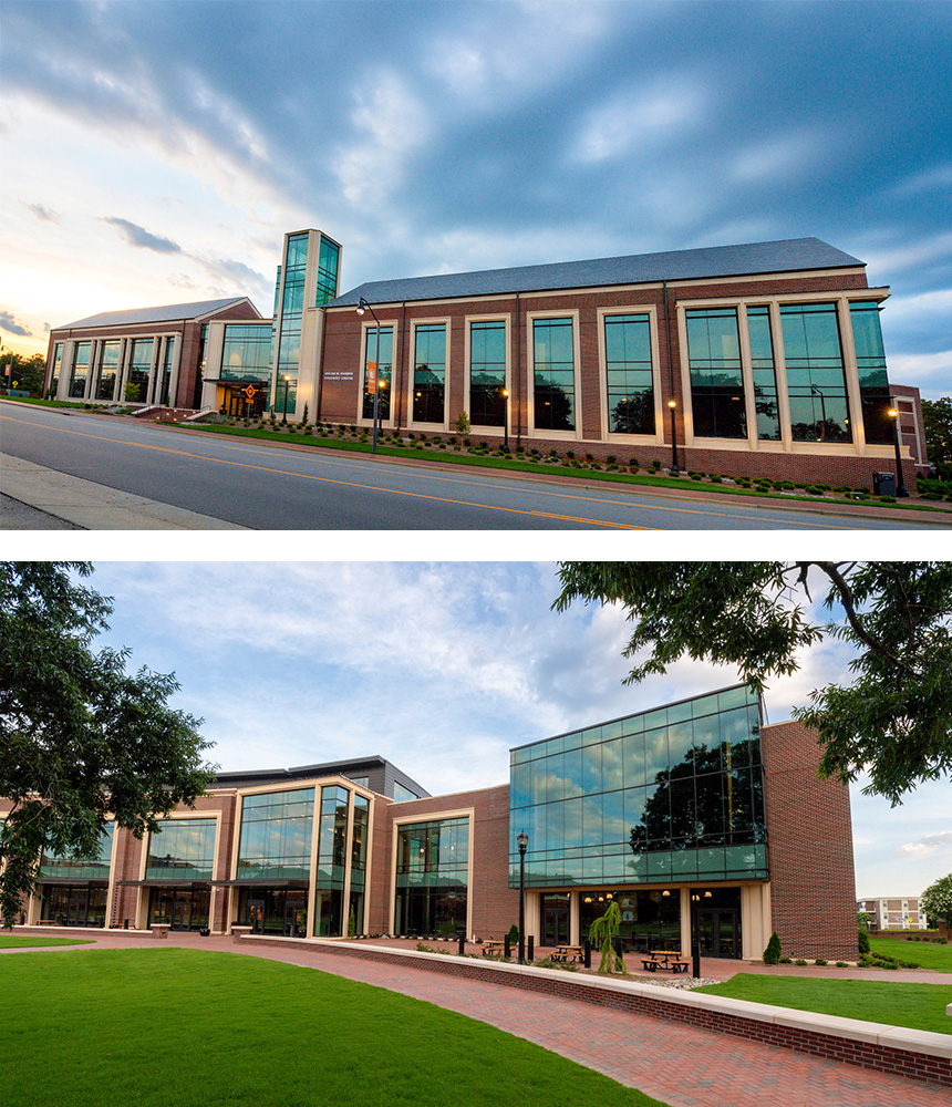 image of front and back of the Student Union
