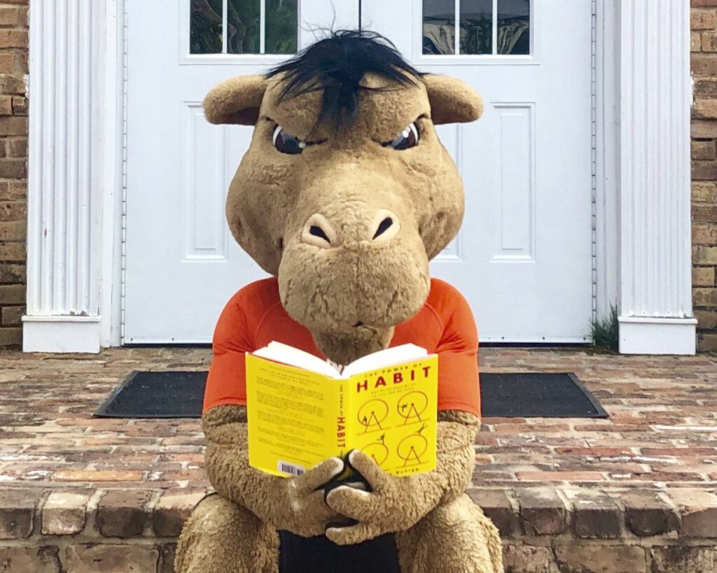 Gaylord reads a book