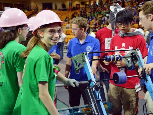 photo of FIRST Robotics students