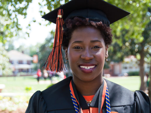 Photo of Campbell Class of 2017 graduate Candace Kinney-Wood