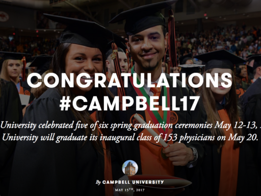 A photo introducing the Campbell '17 graduation photo gallery