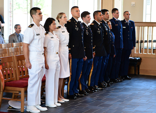 Ten doctor of osteopathic medicine candidates received military promotions as health professions scholars