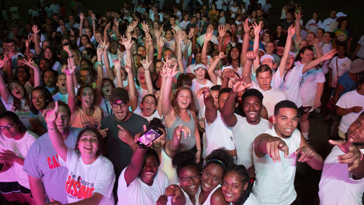 Photo of students from Welcome Week 2016