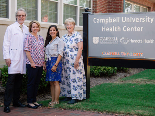 Program advisors and educators: Dr. Nicholas Pennings, Katie Trotta, Pharm. D, Amy Allen, RN and Peggy Smith, Ed. D.
