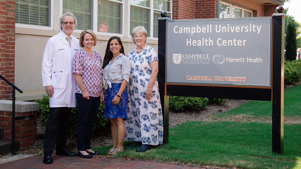 Program advisors and educators: Dr. Nicholas Pennings, Katie Trotta, Pharm. D, Amy Allen, RN and Peggy Smith, Ed. D.