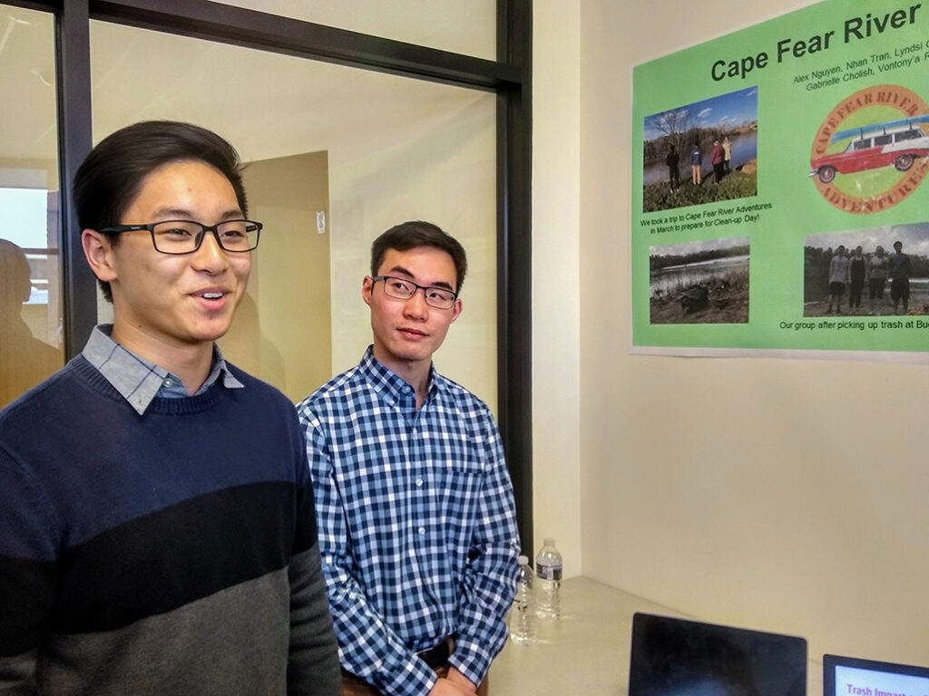 students present a poster project