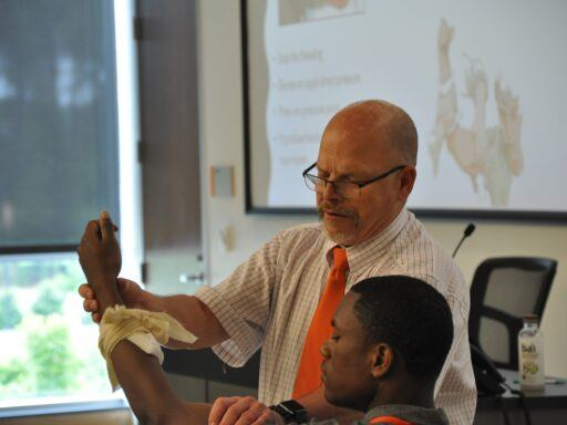 Dr. Pete Fenn with HPREP student