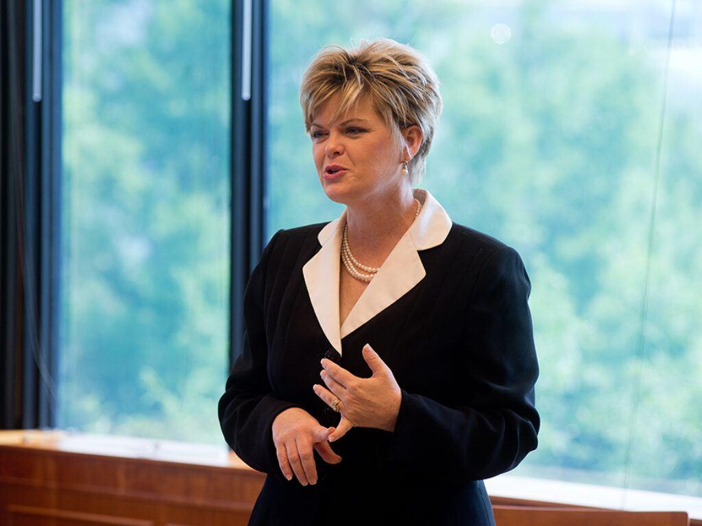Photo of Professor Melissa Essary teaching