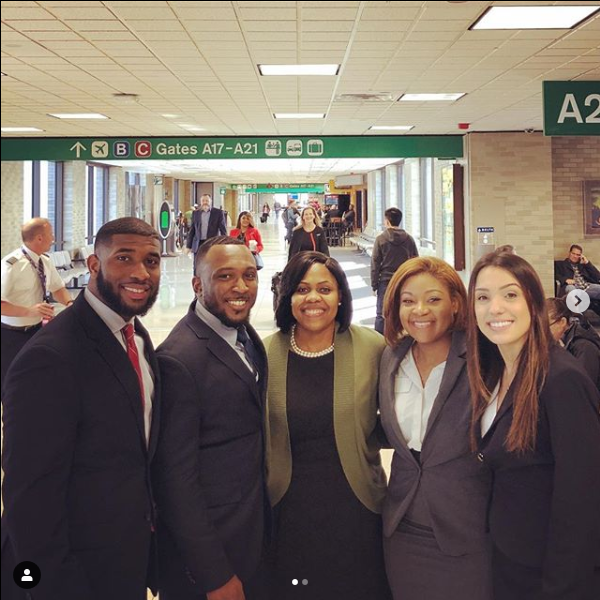 Photo of winning BLSA regional trial advocates
