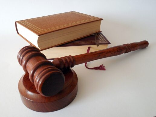 Photo of a gavel and some law books