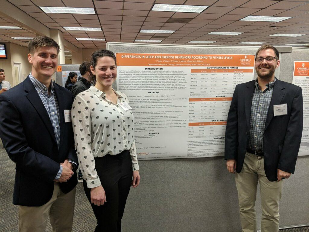 Campbell Physical Therapy students presented poster research at the symposium