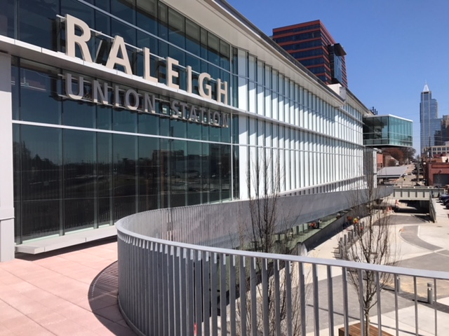 Photo of outside of Raleigh's new Union Station