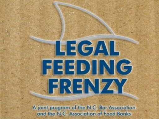 Graphic that says NC Bar Legal Feeding Frenzy