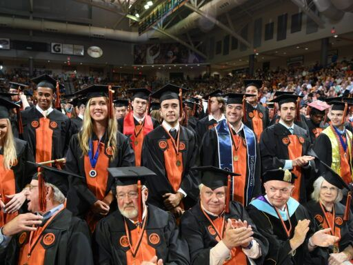 students at graduation ceremony 2019