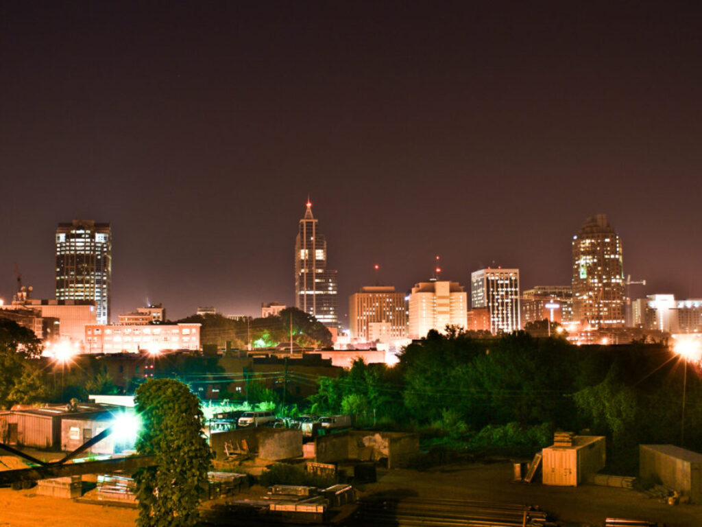 Photo of downtown Raleigh skyline