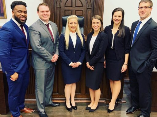 Photo of six Campbell Law Advocates who competed at NTC